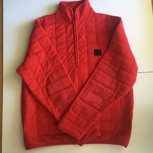 DKNY red puffer jacket